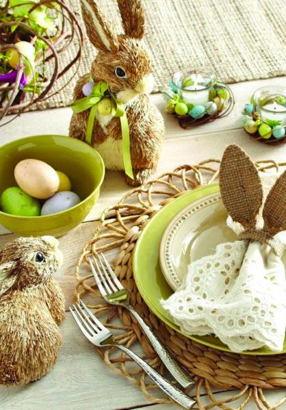 Une décoration aux couleurs de Pâques