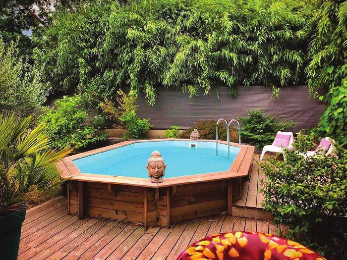 La piscine semi-enterrée, le bon compromis