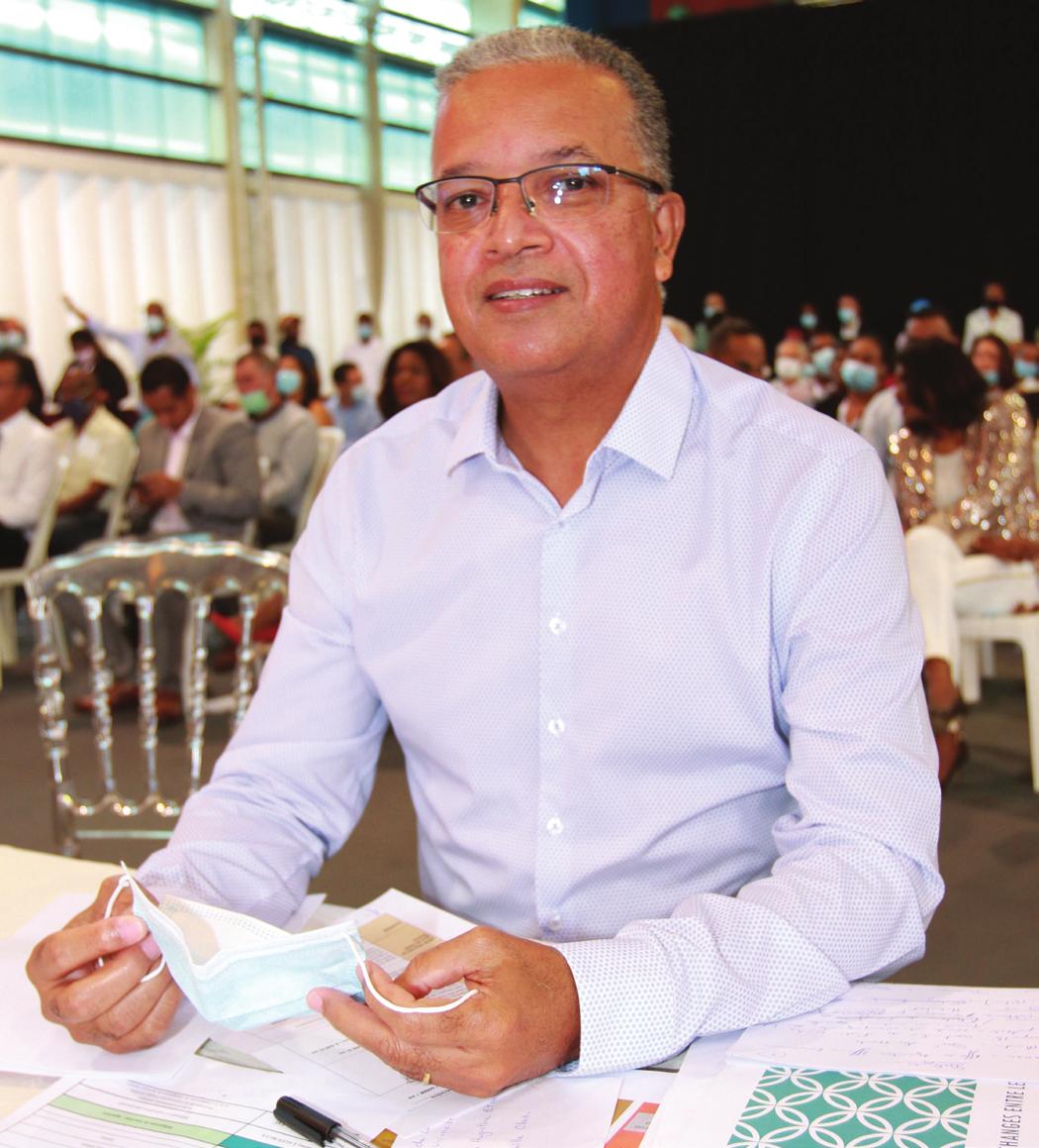 Cyril Melchior, président du Conseil Départemental