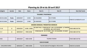 Rugby Réunion : rencontres du weekend