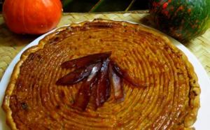 Tarte à la citrouille 4 épices et pépites de papaye confite