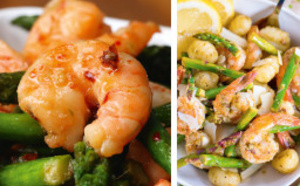 Trois recettes entre terre et mer