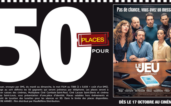 """Cinéma - 50 places à gagner pour """" Le Jeu"""" avec le réseau Mauréfilms"""