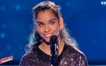 Jane Constance sur la scène de The Voice