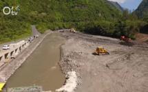 Cilaos : une route provisoire en construction