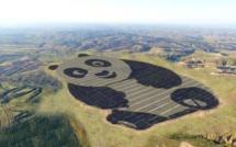 Chine : une ferme solaire de plus d'1 million de m2  en forme de panda géant
