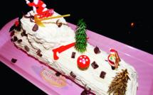 Bûche de Noël : crème chocolat et chantilly